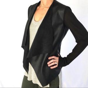 Zara black vegan leather blazer